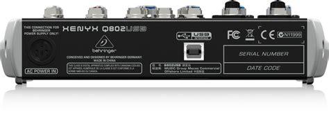 Behringer Xenyx Q802 Usb Mixer behringer q802usb premium 8 input 2 mixer with xenyx mic pres compressors eqs