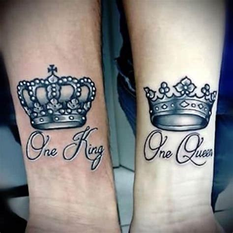 his queen her king tattoos 40 king and tattoos for that kick