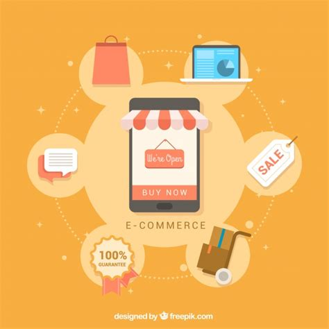 design your background online mobile background with online shopping items in flat