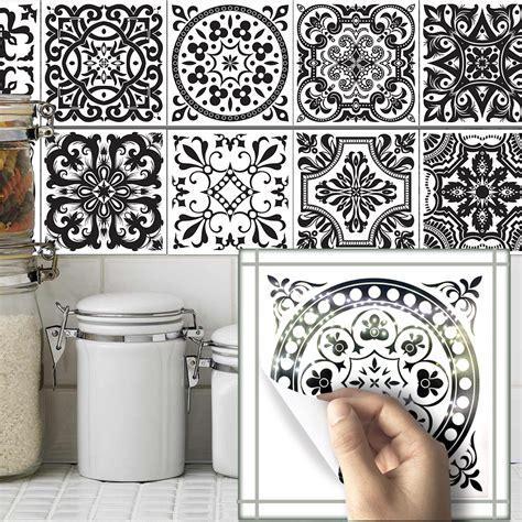 Wallpaper Sticker Motif Kayu 1 funlife10pcs sets bathroom wall black and white pattern