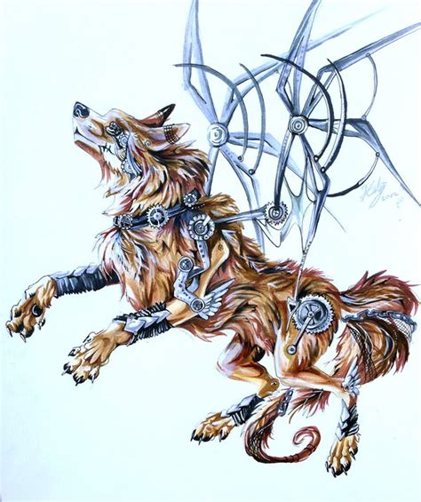 steampunk wolf by lucky978 on deviantart