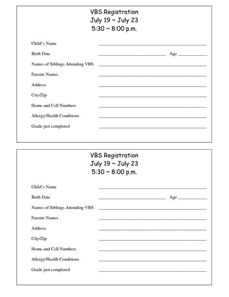 register form template student student registration form template executive