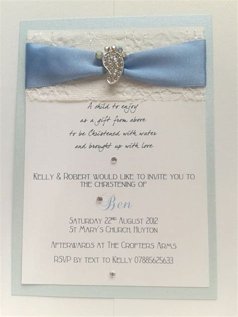 Invitation Handmade - handmade christening invitations cards
