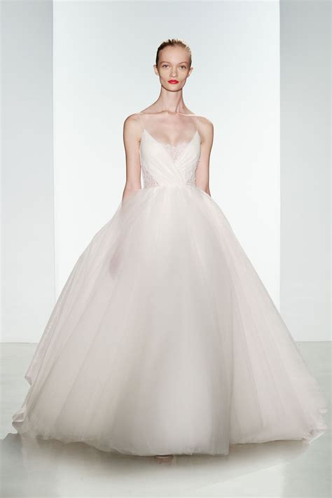 wedding dress with by christos tulle ballgown wedding dress