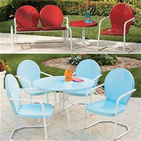 Retro Metal Outdoor Furniture Home Design Retro Patio Set
