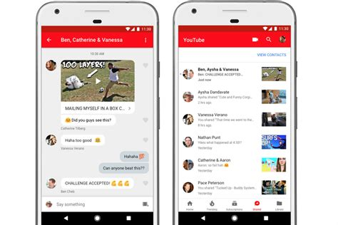 youtube moblie youtube adds an in app messaging feature for sharing and