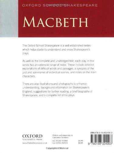 libro oxford literature companions macbeth oxford shakespeare fourth edition macbeth 2009 edition oxford shakespeare