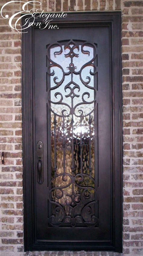 Front Door Iron Custom Wrought Iron Front Door Single Doors More Iron Front Door And Wrought