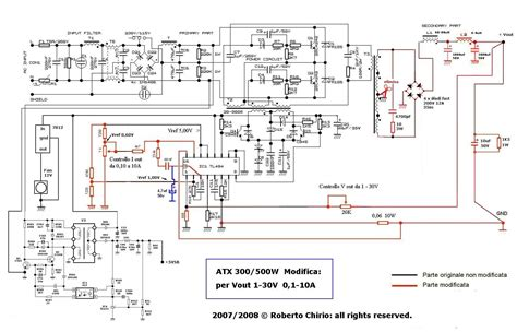 atx 450w smps circuit diagram atx power supply with adjustable voltage current modified
