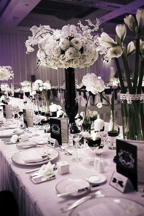 black and white wedding centerpieces wedding stuff ideas