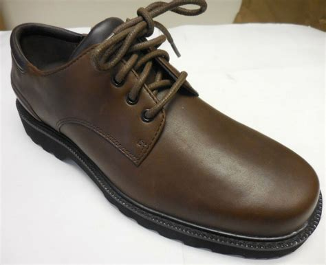 Dress Shoes For by Rockport S Northfield Brown Lace Up Waterproof Dress Shoes 39 Ebay