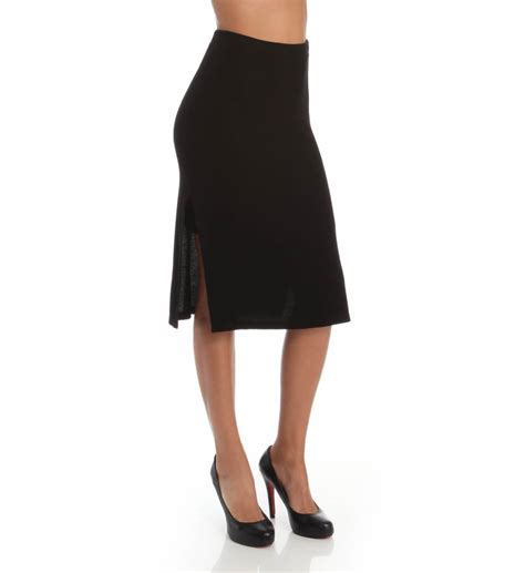 splendid below the knee ribbed pencil skirt ss9559