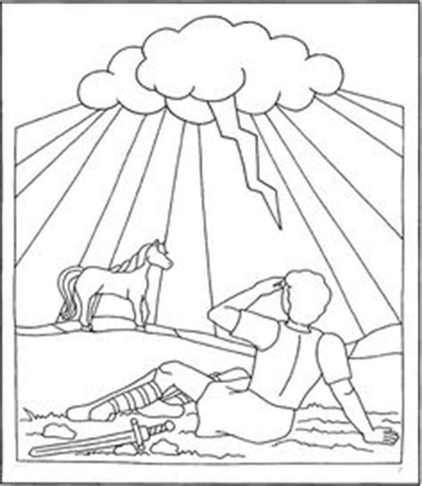 1000 Images About Coloring Bible Nt Acts On Pinterest Paul On The Road To Damascus Coloring Page