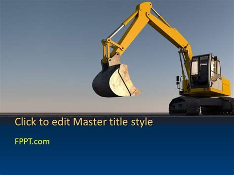Free Construction Powerpoint Templates Heavy Equipment Website Template