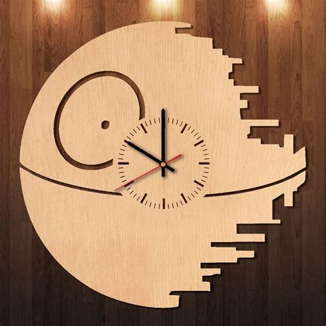 wars republic handmade wood wall clock