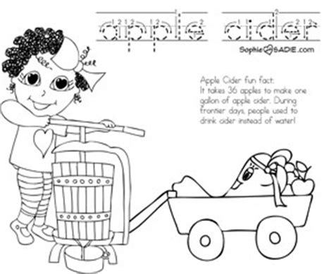 apple cider coloring pages coloring page apple cider sophie and sadie