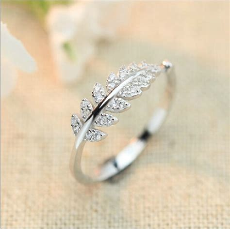 Simple Silver Engagement Rings by Aliexpress Buy Simple Luxury Engagement Rings For