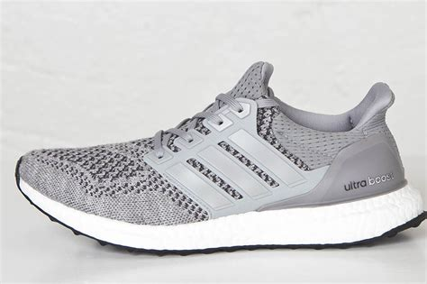 Sepatu Adidas Ultra Boost Ultraboost Primeknit Grey Silver Abu adidas ultra boost grey sneaker bar detroit