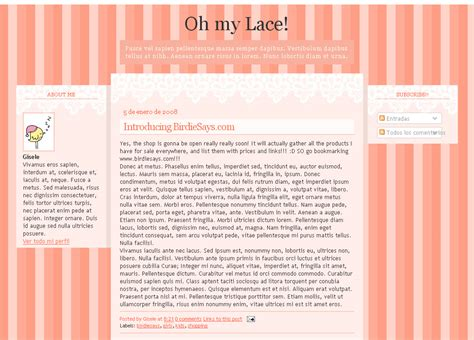 Blogging Template free templates for and plantillas