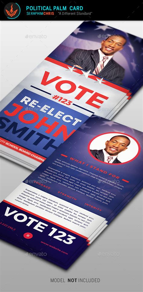 Palm Card Templates by Re Election Palm Card Template By Seraphimchris Graphicriver