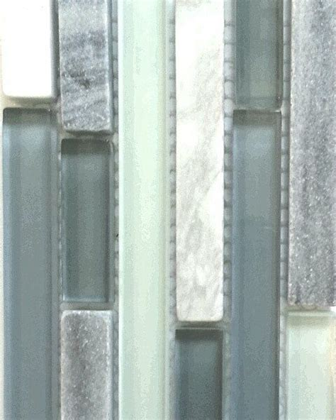 waterfall glass tile in cool waterfall inspired hues of pale blue grey this