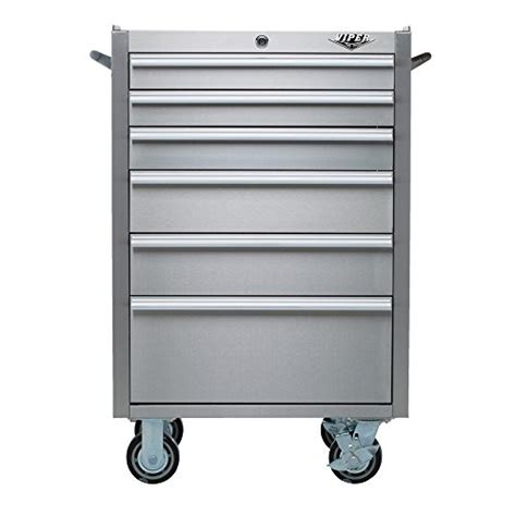stainless steel rolling cabinet viper tool storage v2606ssr 26 inch 6 drawer 304 stainless