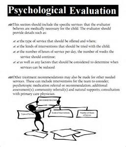psychiatric evaluation template psychological evaluation template 7 free free