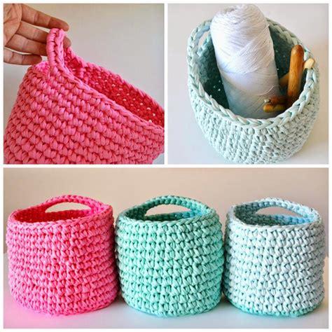 T Shirt Craft three t shirt yarn baskets by myworldofwool t shirt