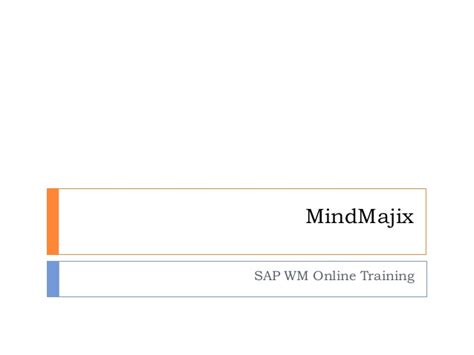 tutorial sap wm sap wm online training