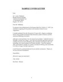 cover letters for resumes free sle for resume cover letter free