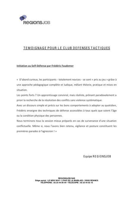 Taux De Recommandation Lettre Recommandée Avis Sur Les Cours De D 233 Fenses Tactiques