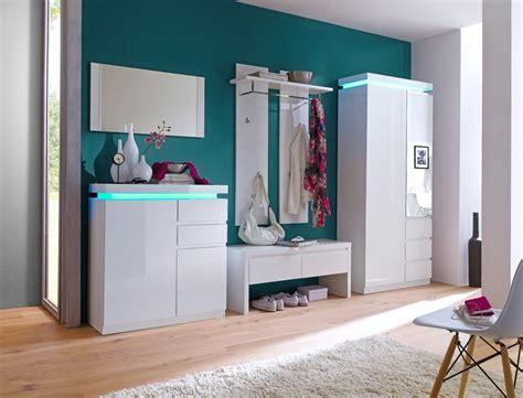 beleuchtung garderobe garderobe odin hochglanz wei 223 5 teilig led beleuchtung