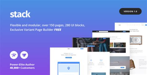 free wordpress themes page builder stack v1 0 0 multi purpose wordpress theme with variant