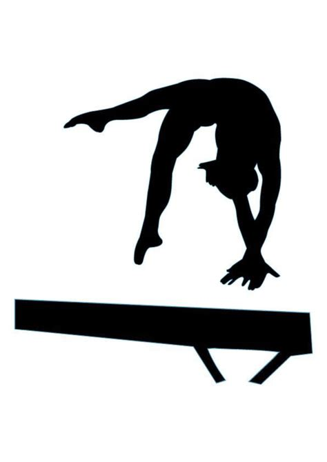 gymnastics clipart gymnastics silhouette cliparts co
