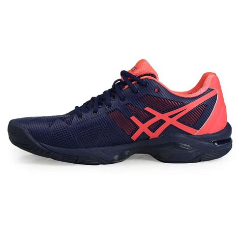 asics gel solution speed 3 womens tennis shoe blue e650n