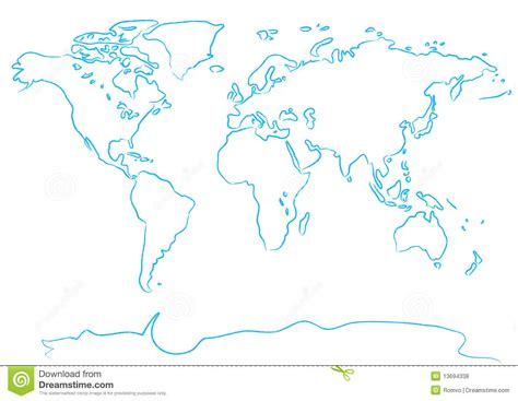 draw maps free drawing map a brush stock vector image of drawing brush
