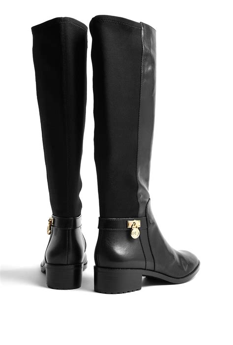 michael michael kors hamilton stretch knee high boots in