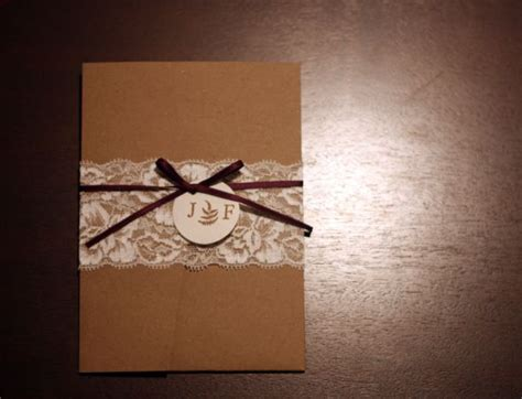 our diy lace wedding invitations weddingbee photo gallery