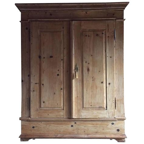 Large Armoire Wardrobe Antique Cupboard Wardrobe Armoire Dresser Pine