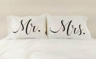 mr mrs pillowcases couples pillow cases mr mrs pillows unique