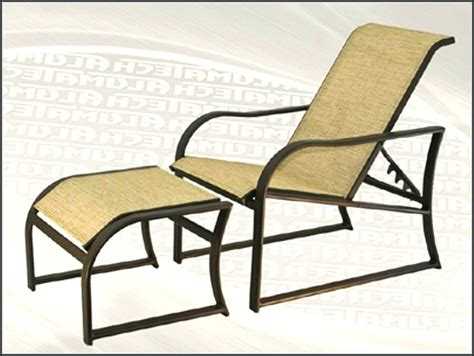 reclining patio chair design 3 adjustable with ottoman