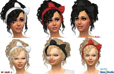 sims 3 custom content haie bow 3to4 bow hair updated at julietoon julie j 187 sims 4 updates