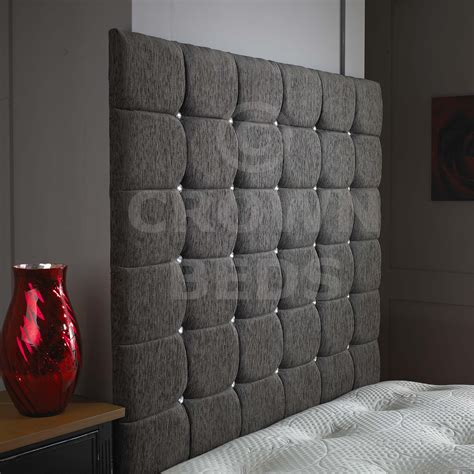 gray king headboard tall headboards king diamond tufted grey suede wingback