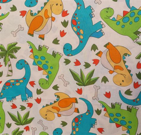 Chaps Curtains by Baby Dinosaur Fabric Cute Nursery Fabric By Jareddesigns