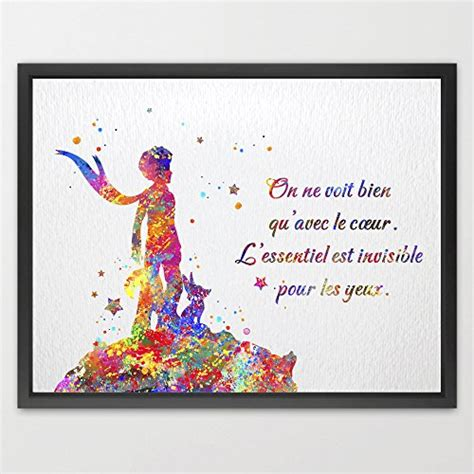 Encore Home Decor by Dignovel Studios Le Petit Prince Citation Inspiration Art