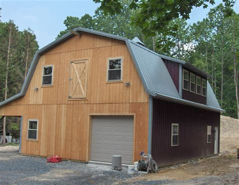 gambrel garage barn roof truss with porch joy studio design gallery