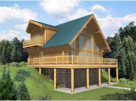 a frame mountain house plans leola raised a frame log home plan 088d 0046 house plans and more