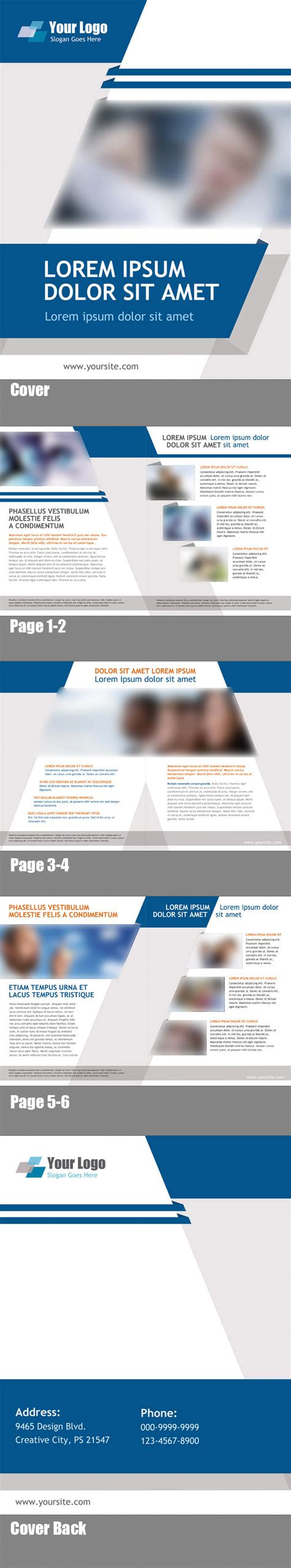free psd booklet template 8 pages free psd files