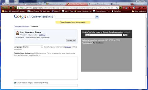 theme google chrome running man iron man aero theme chrome web store
