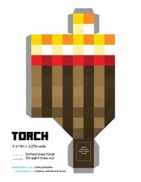 Minecraft Torch Papercraft - minecraft torch printable with